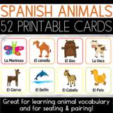 Spanish Animals Printable Flash Cards | No Prep Printable