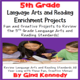 5th Grade Reading and Language Arts Projects! Covers All Standards!