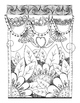 Set of 6 Coloring Pages for Stress Relief and Art