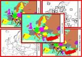 Set of 6 Montessori Geography Maps