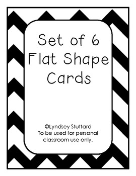 Set of 6 Shape Vocabulary Cards FREEBIE