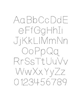 Fonts for Commercial Use | Fonts with Dots Set of 7 Fonts
