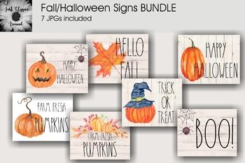 Set of 7 Halloween Classroom Signs