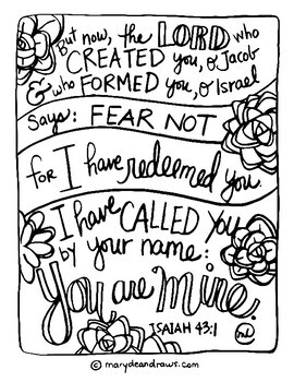 Set of 8 Bible Verse Coloring Pages: Our Identity in Jesus