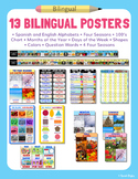 Set of 13 Bilingual Posters for the Classroom – English an