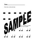 Set of 8 Printable Elementary Music Worksheets