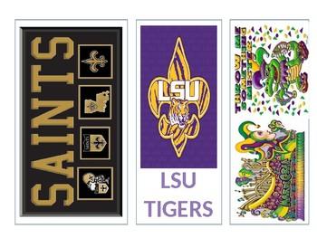 Set of 8 Reading Bookmarks Louisiana Themed