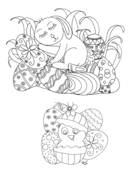 Set of 8 Seasonal Coloring Pages for Stress Relief and Art