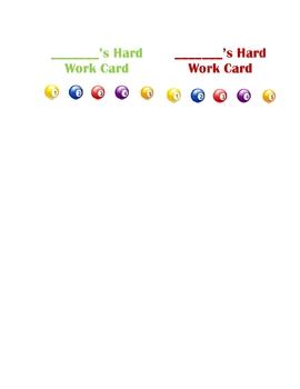 Set of Behavior Punch Cards