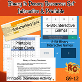Binary - Denary Games & Resource Set Grade Interactive & P