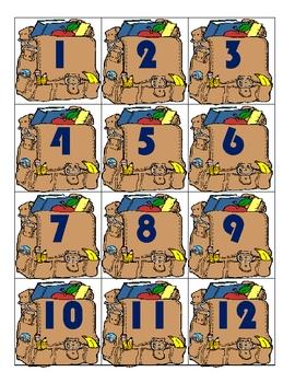 Set of Calendar Pieces