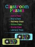 Set of Classroom passes