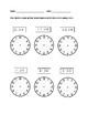 Set of Clock Worksheets: Analog and Digital