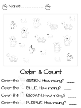 Set of Pets- Color & Count