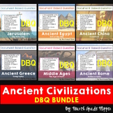 Bundle of SIX Ancient History Document Based Questions (DBQ) Common Core aligned