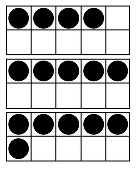 Set of Tens Frames (with dots) 0 - 10