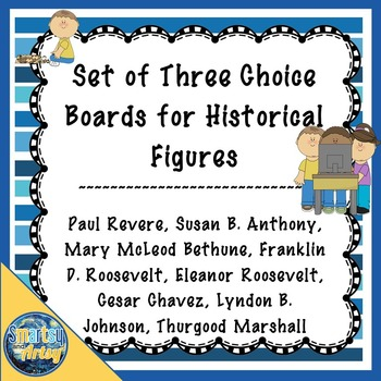 Set of Three Historical Figures Choice Boards