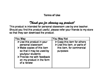 Types of Texts Graphic Organizers Frayer Model