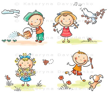 Set of kids seasonal activities