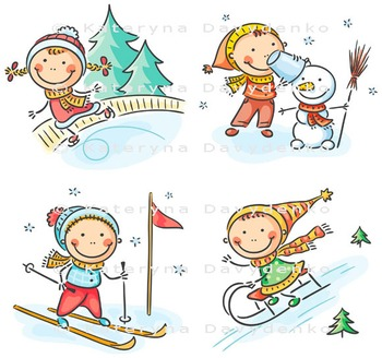 Set of kids seasonal activities