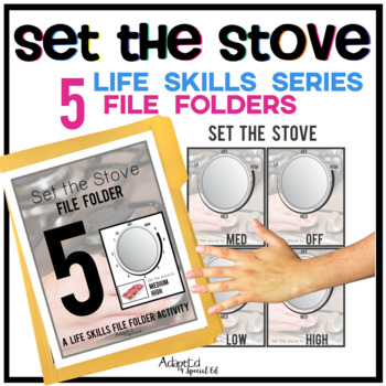 Set the Stove: Life Skills File Folder Special Education