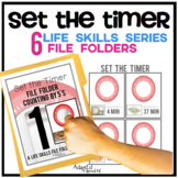 Set the Timer: Life Skills File Folder Special Education