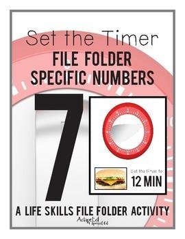 Set the Timer: Life Skills File Folder Special Education