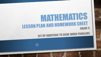 Set up equations to solve word problems