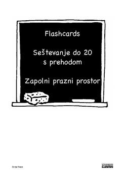 Seštevanje do 20 s prehodom - Slovenska verzija - Slovenian language