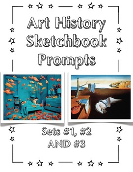 Sets #1, #2 and #3 of Art History Sketchbook Prompts
