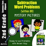 Math Review Packet 2nd Grade Double Digit Subtraction Word Problem Coloring