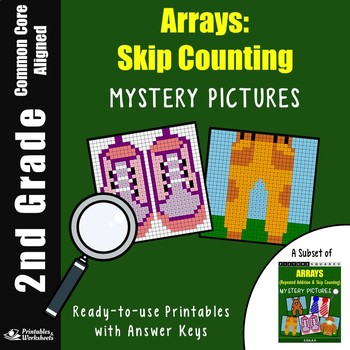 Skip Counting Worksheets 2nd Grade Array Mystery Pictures Coloring Sheets
