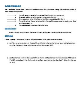 Sets (Introductory Module in Algebra)