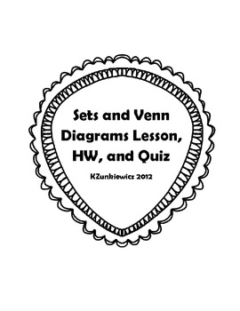 Venn diagram teaching resources teachers pay teachers sets venn diagrams lesson plan hw and quiz ccuart Images