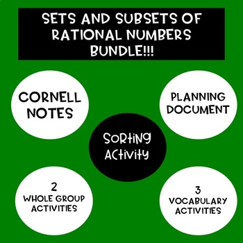 Sets and Subsets of Rational Numbers Bundle