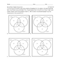 Sets and  Venn Diagrams Assessments