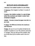 Sets of Data Vocabulary
