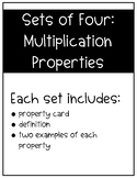 Sets of Four: Multiplication Properties