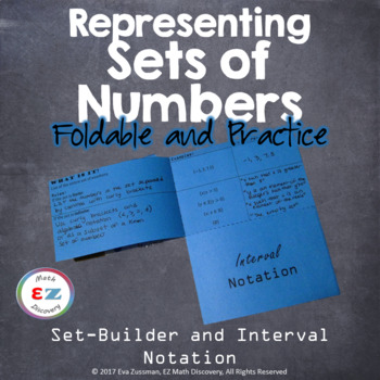 Sets of Numbers Foldable - Set-Builder and Interval Notati