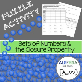 Sets of Numbers and the Closure Property - Puzzle Activity