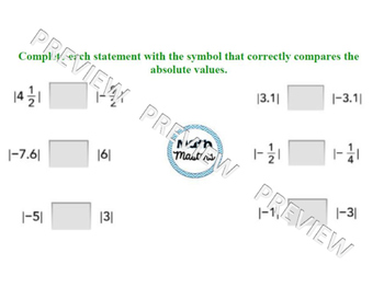 Sets of Rational Numbers and Absolute Value