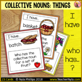 Collective Nouns 'I Have Who Has' Game for Sets of Things - Matching Activity