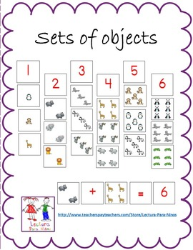 Sets of objects:  Matching set to Number