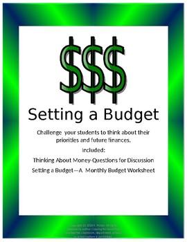 Setting A Budget--A Look at Future Finances
