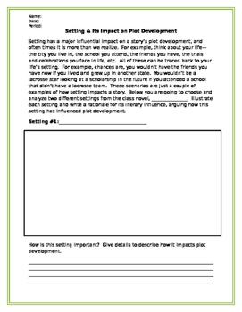 Setting Analysis Worksheets