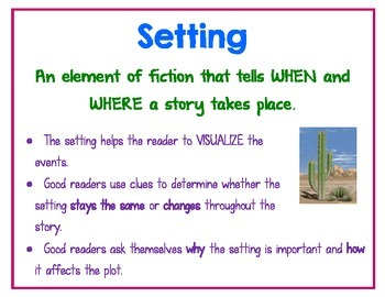 Setting Anchor Chart/ Reference Sheet Common Core