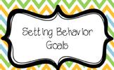 Setting Behavior Goals