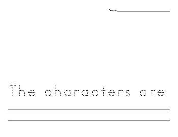 Setting Character Writing Activity