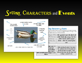 Setting, Characters and Events
