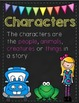 Setting, Characters and Major Events Anchor Charts and Assessments {RL.K.3}